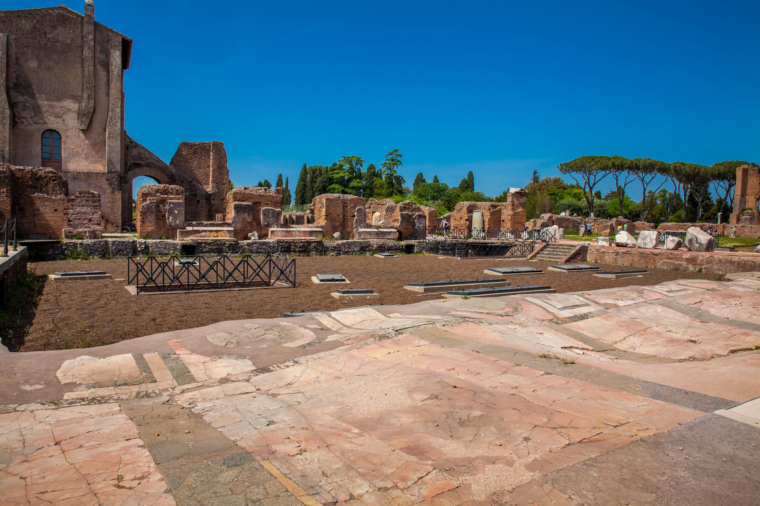 Domus Flavia_Roman Ruins_Decorated Floor