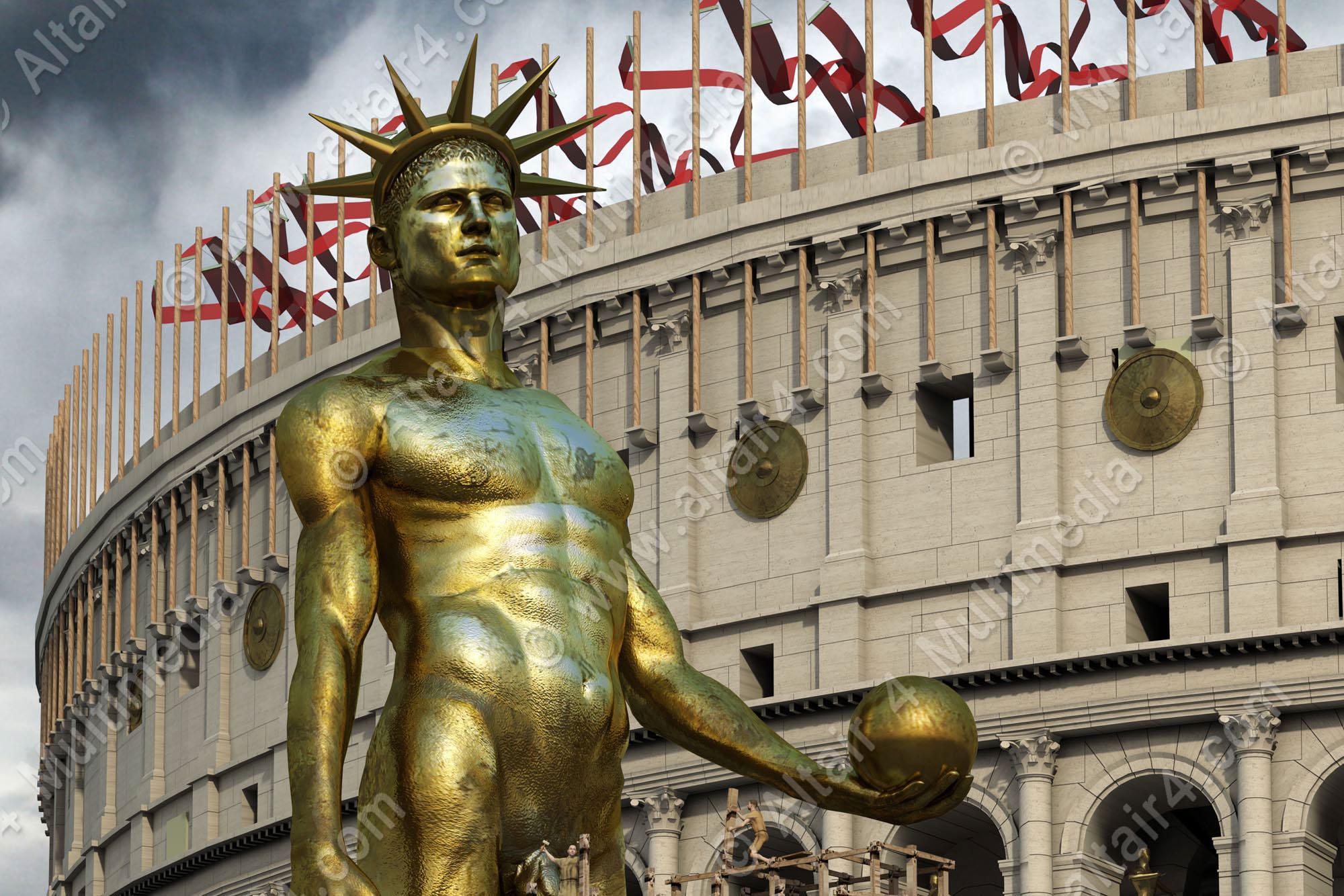 Nero Statue_Colosseum (1)