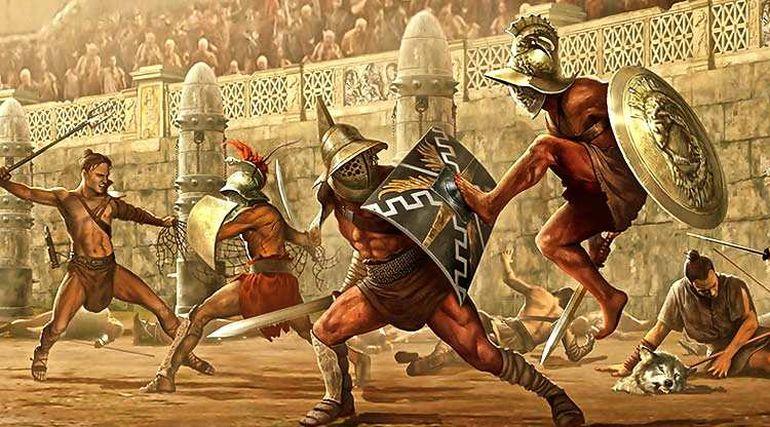 Gladiator Fight Scene_Colosseum_Ancient Rome (4)